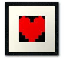 Undertale Heart Framed Print