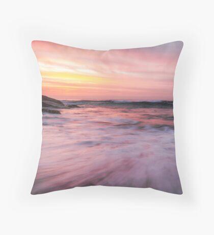 Watercolour Sunrise Throw Pillow