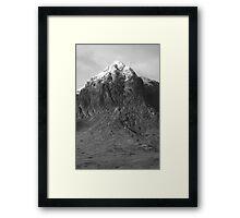Buachaille black and white Framed Print