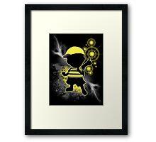 Super Smash Bros. Yellow/Black Ness Sihouette Framed Print