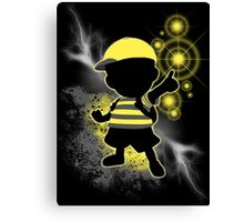 Super Smash Bros. Yellow/Black Ness Sihouette Canvas Print
