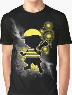 Super Smash Bros. Yellow/Black Ness Sihouette Graphic T-Shirt