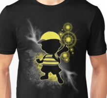 Super Smash Bros. Yellow/Black Ness Sihouette Unisex T-Shirt