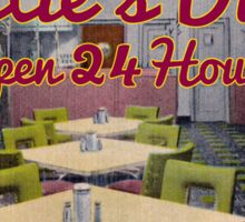 Dotties Diner Open 24 Hours  Sticker