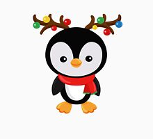 Christmas penguin dressed as Santa's reindeer Unisex T-Shirt