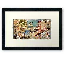 California Collage Art Framed Print