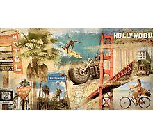 California Collage Art Photographic Print