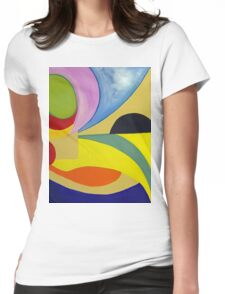 In the eye.... Womens Fitted T-Shirt