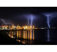 Fremantle Port Thunderstorm  Photographic Print