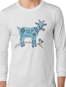 Blue Goat Long Sleeve T-Shirt