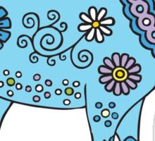 Blue Goat Sticker