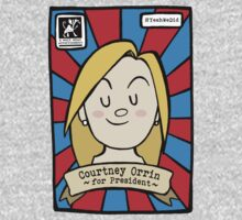 courtney for prez: future campaign shirt by kat sibly