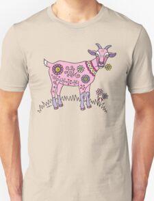 Pink Goat Unisex T-Shirt