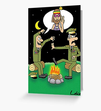 """Humor In Uniform"" funny Miltary joke card. Greeting Card"