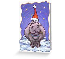 Hippopotamus Christmas Greeting Card