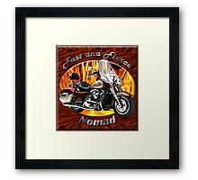 Kawasaki Nomad Fast And Fierce Framed Print