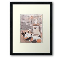 Frankenkitty in the Lab Framed Print