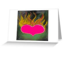 the flaming heart Greeting Card