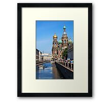 The Church Of Our Savior On Spilled Blood - Russia Framed Print