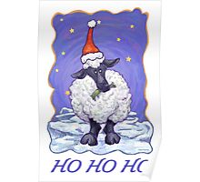 Sheep Christmas Card Poster