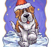 St. Bernard Christmas Card by ImagineThatNYC