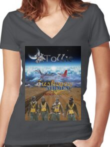 Tuskegee Airmen T-Shirt by Tollie Schmidt Women's Fitted V-Neck T-Shirt