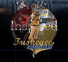 Leather Tuskegee Airmen iPad Case by Tollie Schmidt by Tollie Schmidt