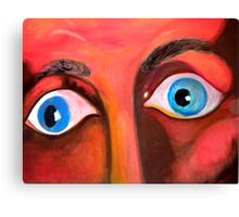 can't hide from these distraught eyes Canvas Print