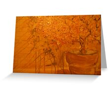 golden still life of magic Greeting Card