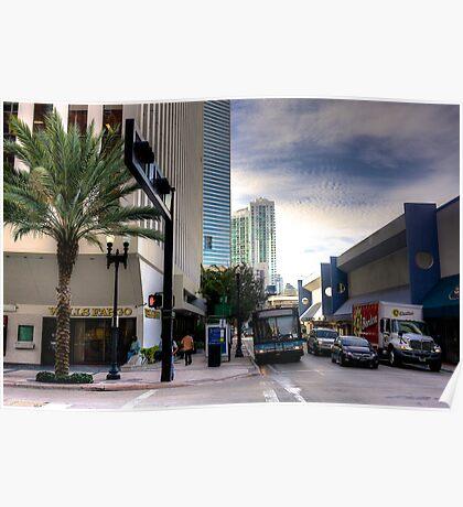 Miami- NE 1st Avenue Poster