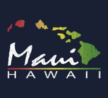 Maui - Hawaiian Islands (Vintage Distressed Look) by robotface