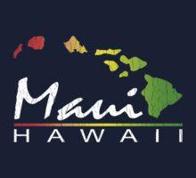 Maui - Hawaiian Islands (Vintage Distressed Look) Kids Clothes
