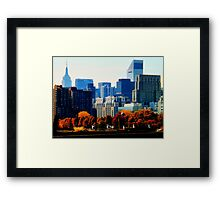 A Manhattan Autumn Framed Print
