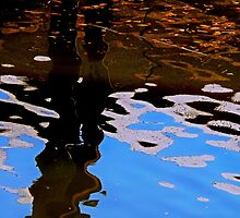 Reflecting on Dock and Sky by James Aiken