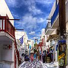 Market Day in Mykonos by Tom Gomez