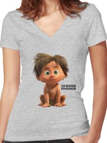 Spot - The Good Dinosaur Women's Fitted V-Neck T-Shirt