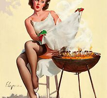 Barbecue Pin-Up Girl by TilenHrovatic