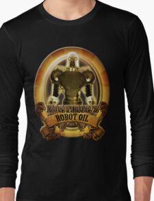 Mortimors Robot Oil. Long Sleeve T-Shirt