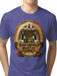 Mortimors Robot Oil. Tri-blend T-Shirt