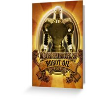 Mortimors Robot Oil. Greeting Card