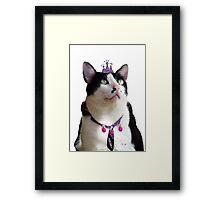 King Tux >^^< Framed Print