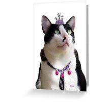 King Tux >^^< Greeting Card