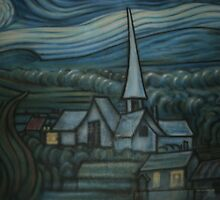 Church on the Wall by Michel Baylor