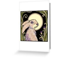 Moon Hare Greeting Card