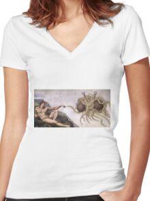 Flying Spaghetti Monster Women's Fitted V-Neck T-Shirt