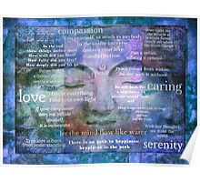 Buddha Awakening spiritual art with quotes Poster
