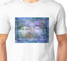 Buddha Awakening spiritual art with quotes Unisex T-Shirt