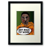 GET BACK TO WORK (Comic version) Framed Print