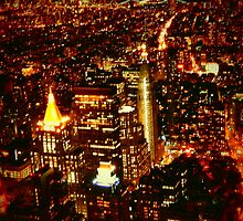 NYC Bright Lights by LManfredi