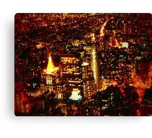 NYC Bright Lights Canvas Print